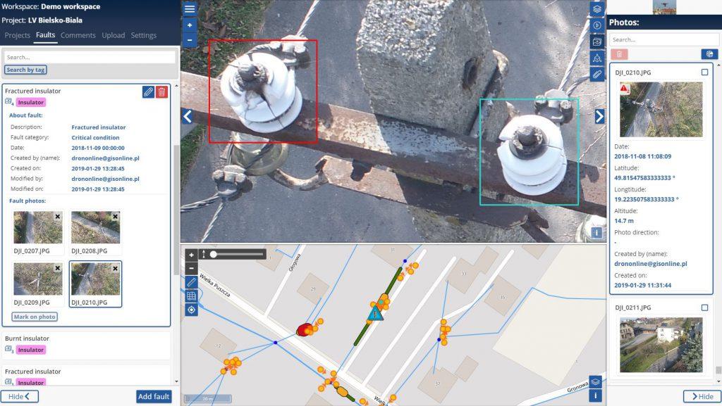 DRONonLine - inspection platform  Free trial! - GiSonLine